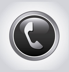 phone button design vector image
