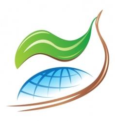 save earth logo vector image