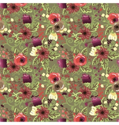 seamless background with flowers ornament vector image vector image