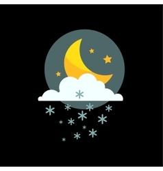 Weather snowflake night icon vector image vector image
