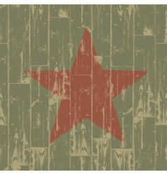 aged red star symbol vector image vector image