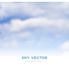 Fluffy clouds on blue sky heaven vector image