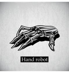 robot hand vector image