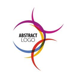abstract logo of colored circles vector image vector image