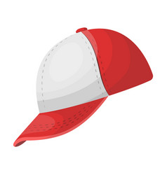 Baseball cap baseball single icon in cartoon vector