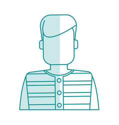 Blue silhouette shading faceless man prisoner with vector