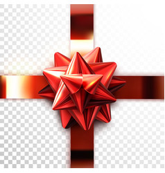 red bow realistic vector image vector image