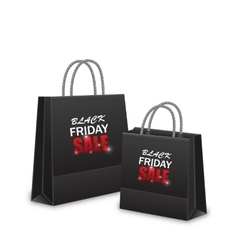 Shopping Paper Bags for Black Friday Sales vector image vector image