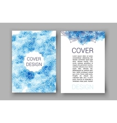 template brochure pages ornament vector image