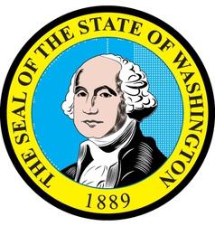 Washington state seal vector image