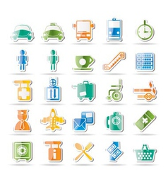 airport and transport icons vector image vector image