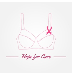 Breast Cancer Awareness Background elements and vector image vector image