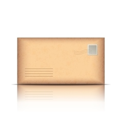 Old envelope isolated on white vector image vector image