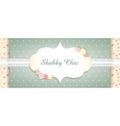 Shabby chic congratulations card vector