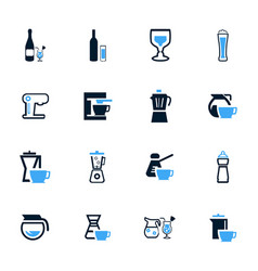 utensils for beverages icons set vector image