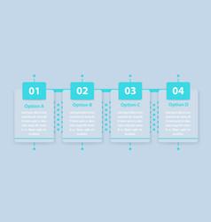 1 2 3 4 steps infographics timeline vector image