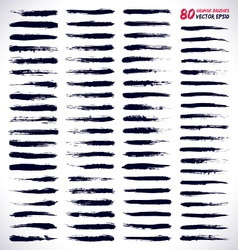 80 GRUNGE BRUSHES vector