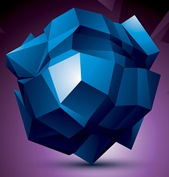 Abstract asymmetric blue object constructed from vector image