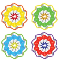 Abstract paper flower2 vector