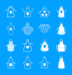 Apron cooking chef icons set simple style vector