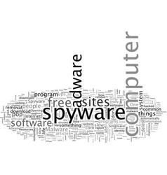 are you one affected spyware or adware vector image