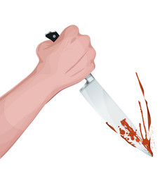 bloody murder with knife vector image