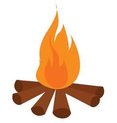 bonfire on white background vector image