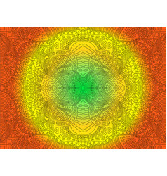 bright sunny decorative psychedelic ornament on vector image