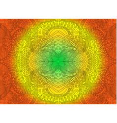 bright sunny decorative psychedelic ornament vector image
