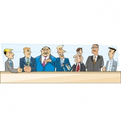 Businessmen and politicians vector