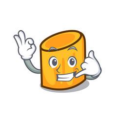 Call me rigatoni mascot cartoon style vector