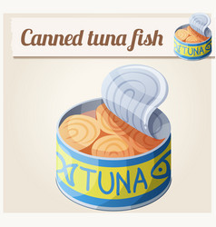 canned tuna fish detailed icon vector image