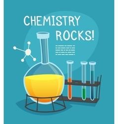 Chemical Laboratory Cartoon Concept vector