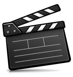 Cinema clapperboard cartoon isolated vector