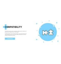compatibility line icon simple icon banner vector image