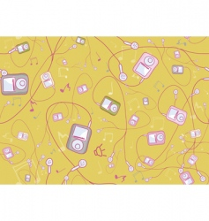 Cool hand drawn mp3 players vector