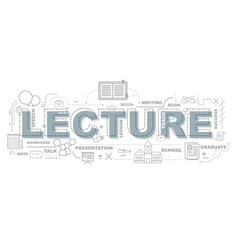 creative of lecture with line icon vector image