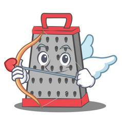 Cupid kitchen grater character cartoon vector