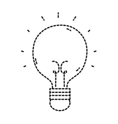 Dotted shape light bulb idea to creative invention vector