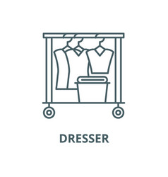 dresser line icon linear concept outline vector image