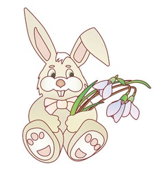 easter bunny vector ilustration vector image