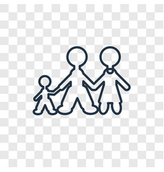 family man concept linear icon isolated on vector image