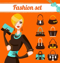Fashion woman set vector image vector image