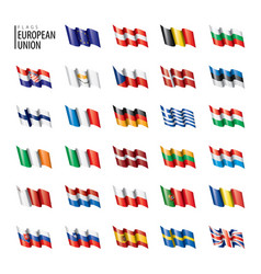 flags european union vector image