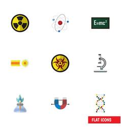 Flat icon study set of irradiation orbit vector