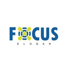 focus target logo vector image