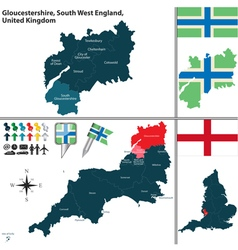 Gloucestershire South West England vector