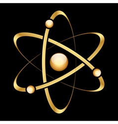 gold atom vector image