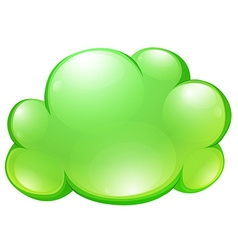 Green fluffy cloud on white vector image