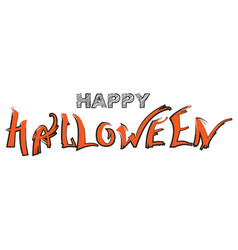 happy halloween text greeting card isolated on vector image
